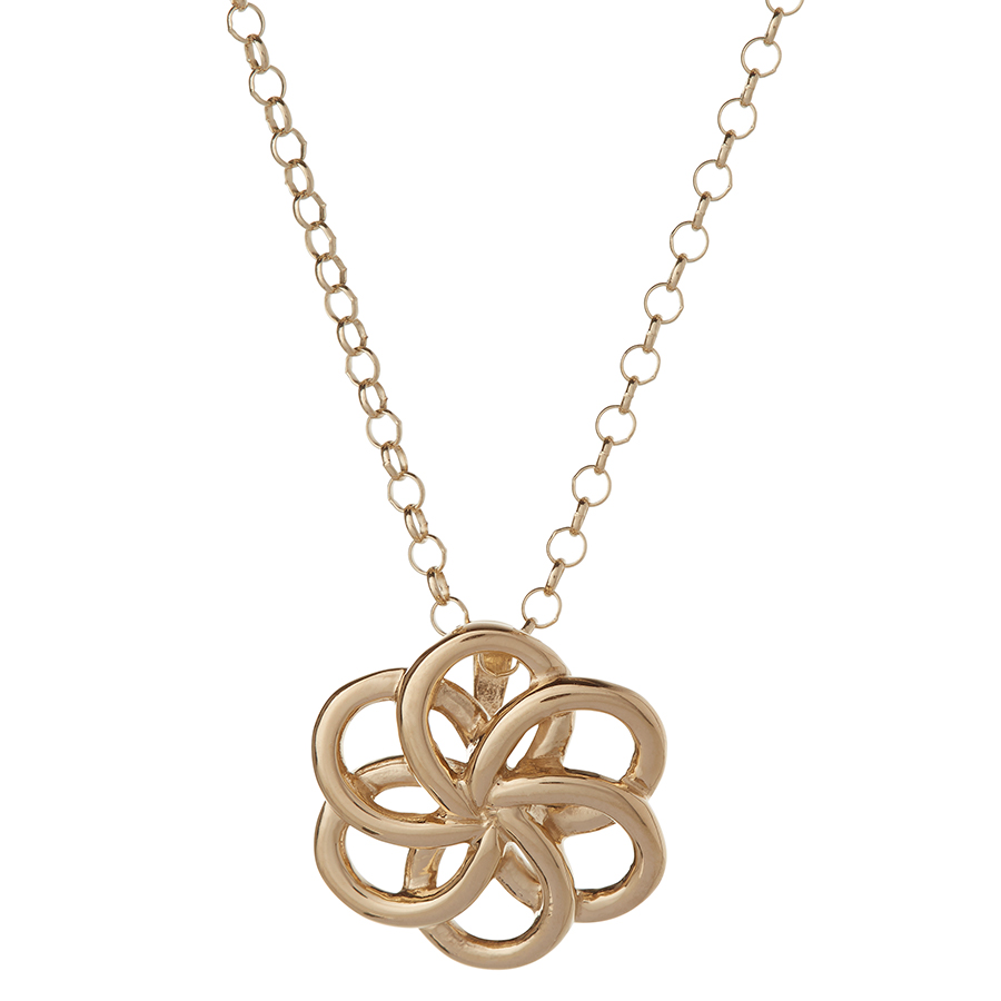 Kashka London Faith Sterling Silver with Yellow Gold Vermeil Necklace
