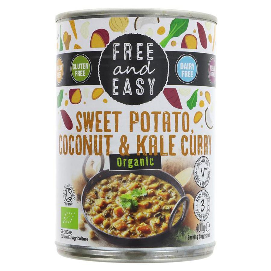 Free & Easy Sweet Potato Kale & Coconut Curry - 400g
