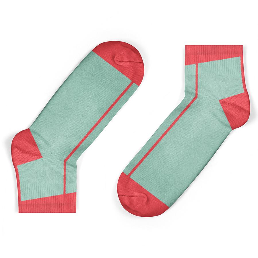 Unisock Kids Coral Stripe Ankle Socks