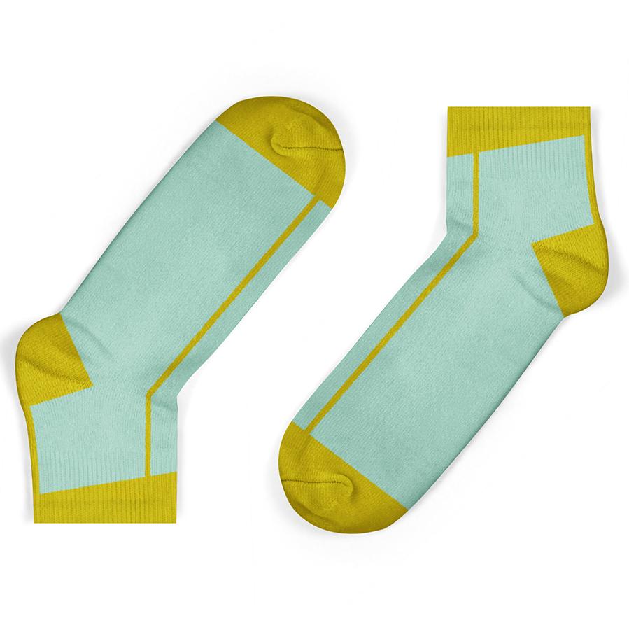 Unisock Kids Mustard Stripe Ankle Socks