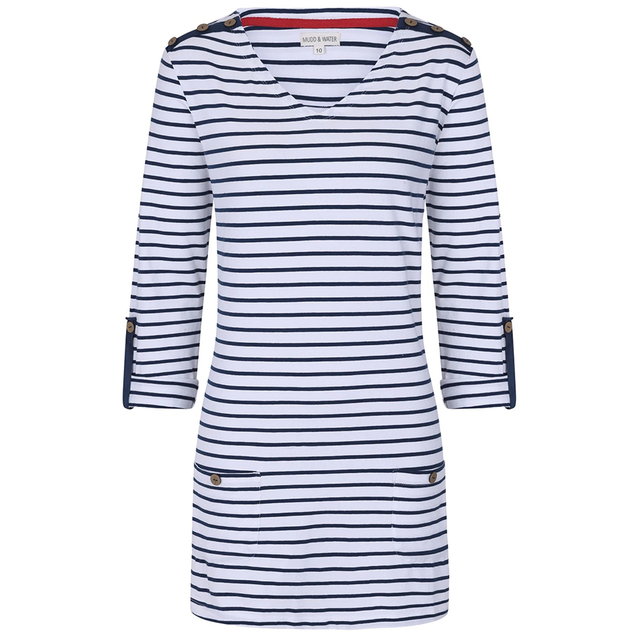 Mudd & Water Stay with Me Tunic - Navy Stripe