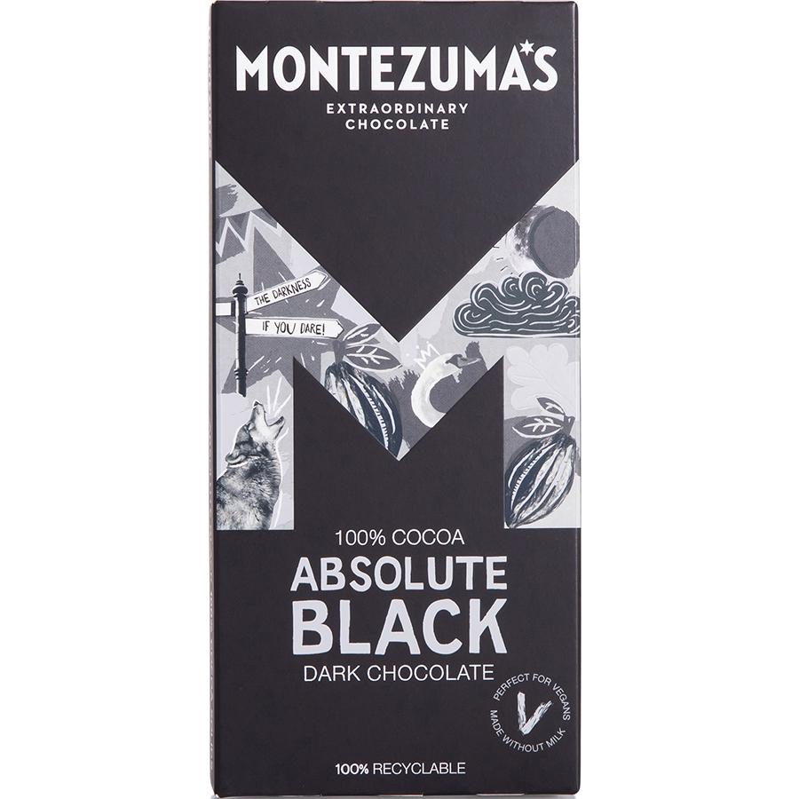 Montezumas Absolute Black 100% Cocoa Chocolate Bar - 90g