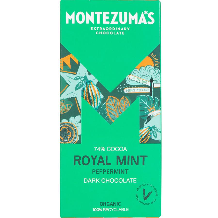Montezumas Royal Mint Dark Chocolate with Peppermint Bar - 90g