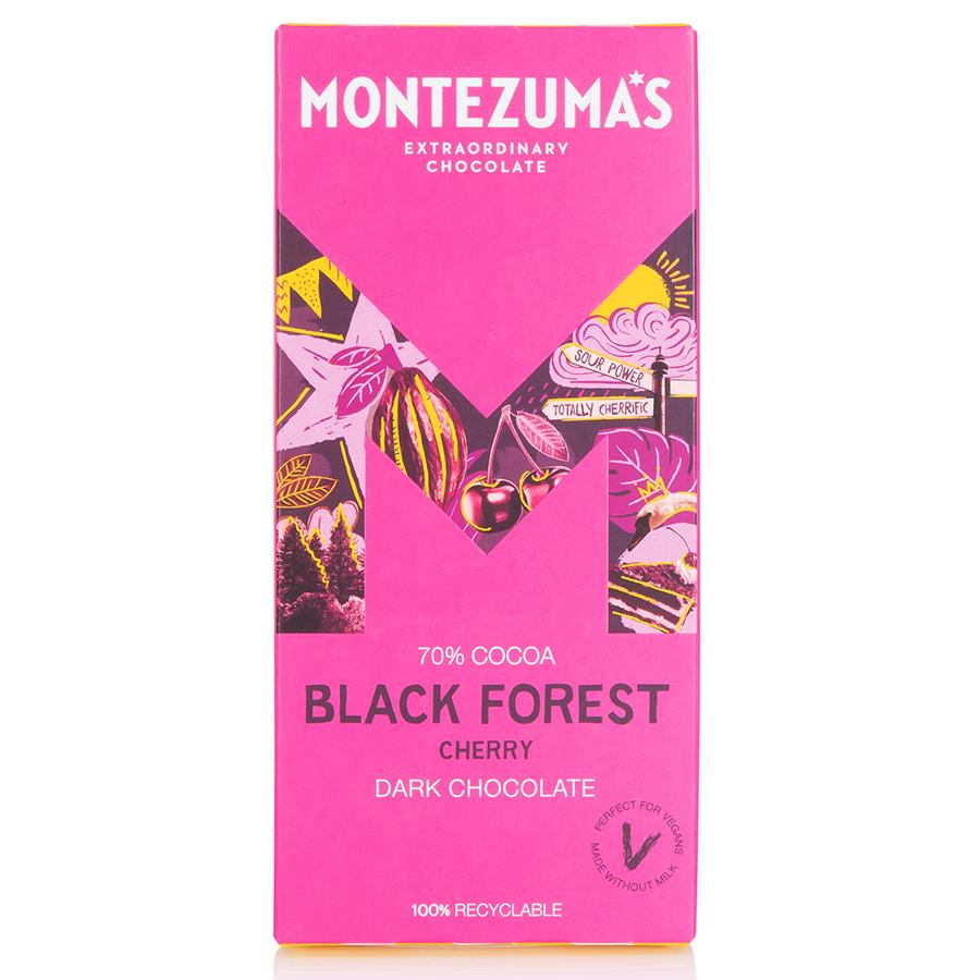 Montezumas Black Forest Dark Chocolate with Cherry Bar - 90g