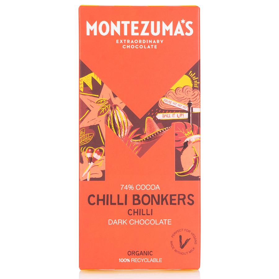 Montezumas Chilli Bonkers Dark Chocolate with Chilli Bar - 90g
