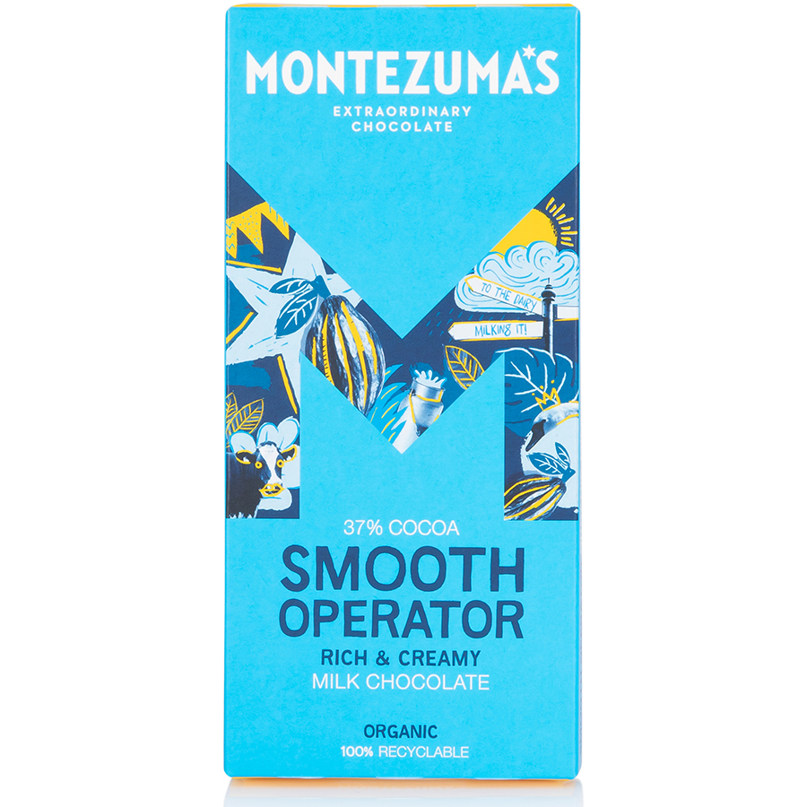 Montezumas Smooth Operator 37% Milk Chocolate Bar - 90g