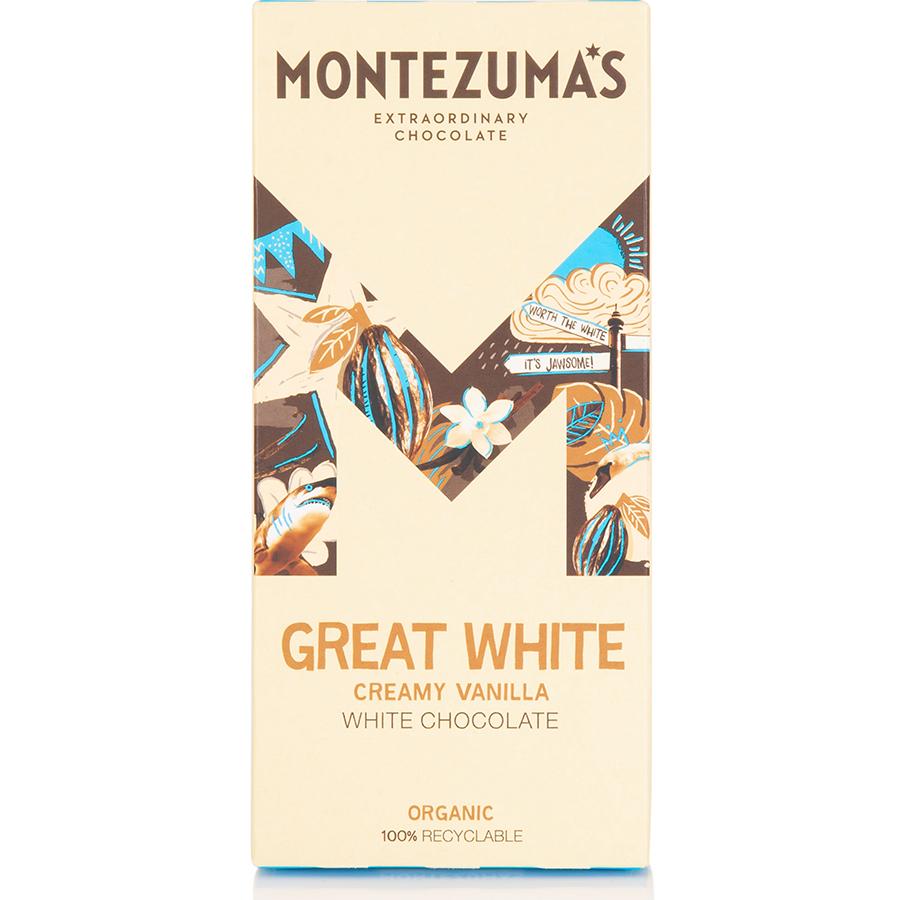 Montezumas Great White Creamy White Chocolate Bar - 90g