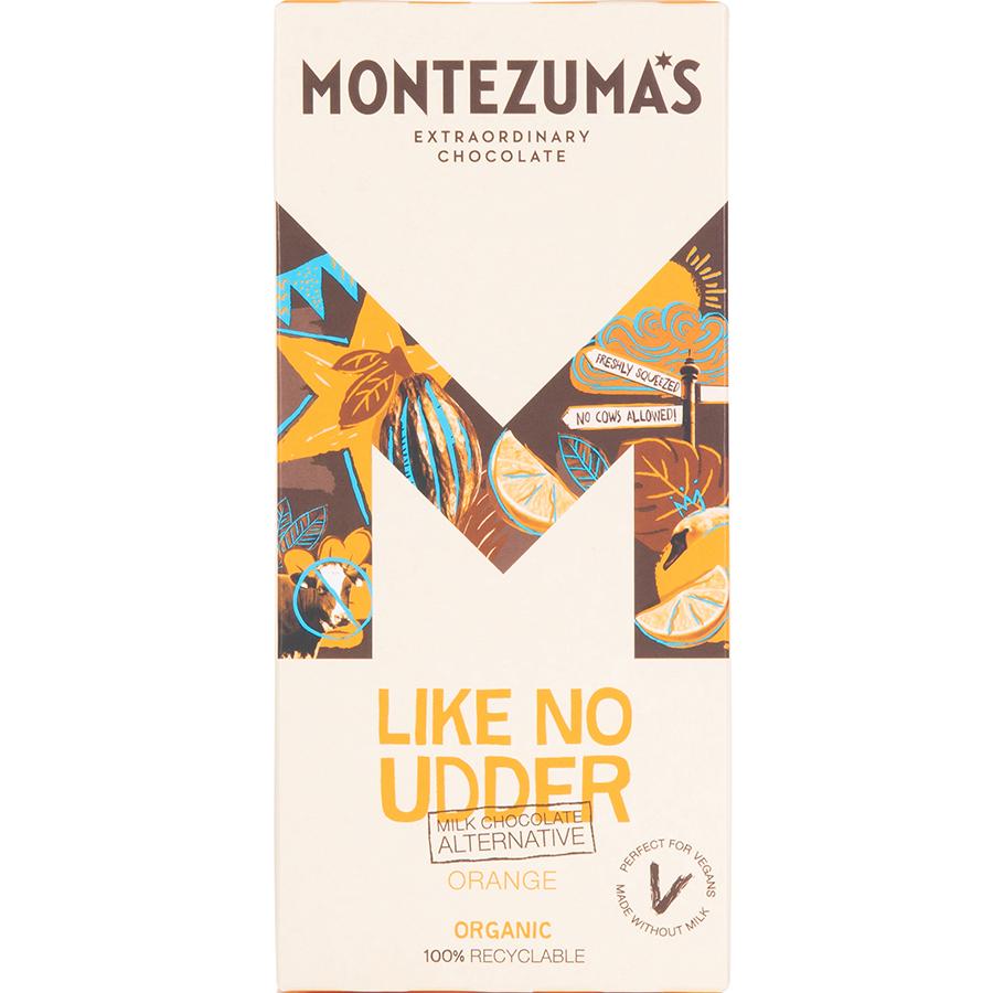 Montezumas Like No Udder Orange Chocolate Bar - 90g