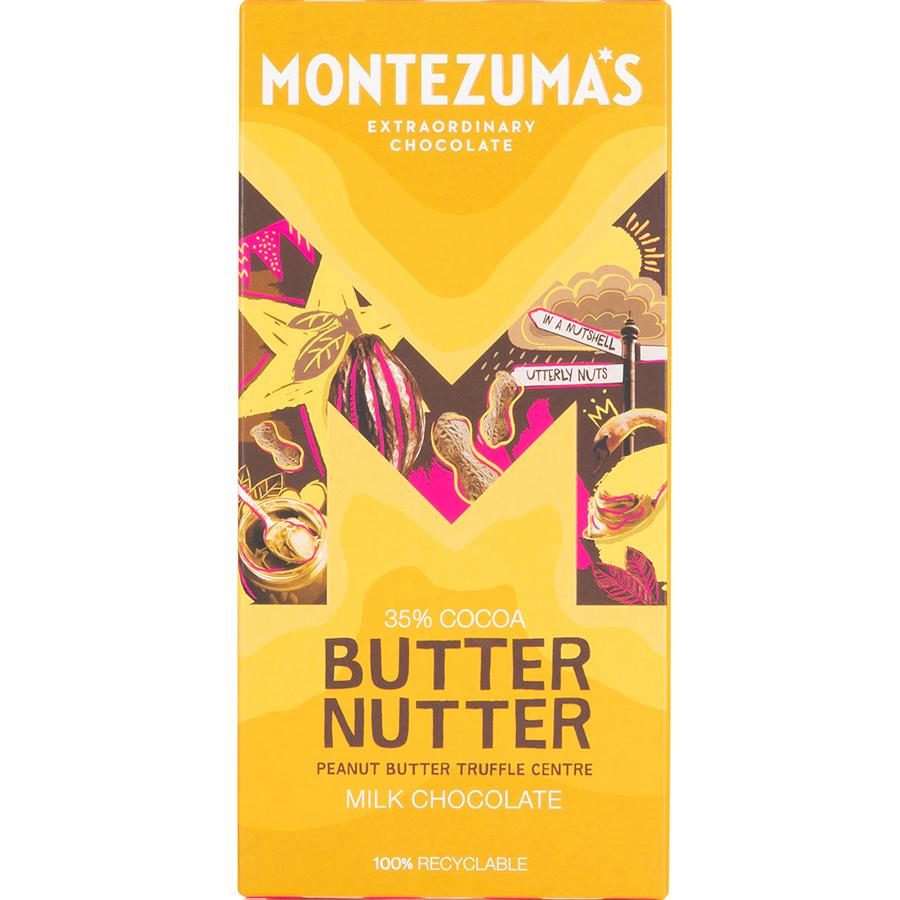 Montezumas Butter Nutter Peanut Butter Truffle Filled Milk Chocolate Bar - 90g