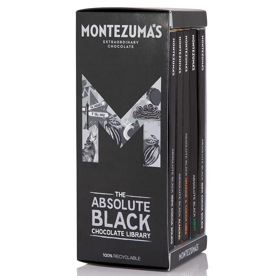 Montezumas Absolute Black Chocolate Bar Library - 450g