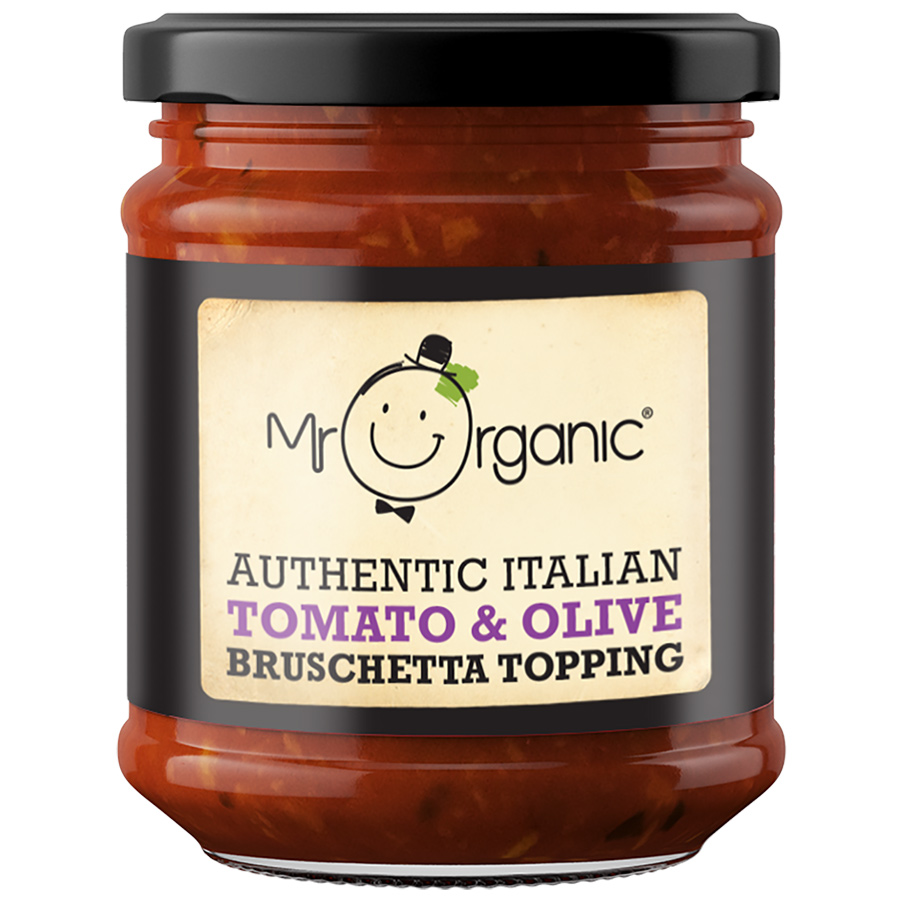 Mr Organic Tomato & Olive Bruschetta Topping - 200g