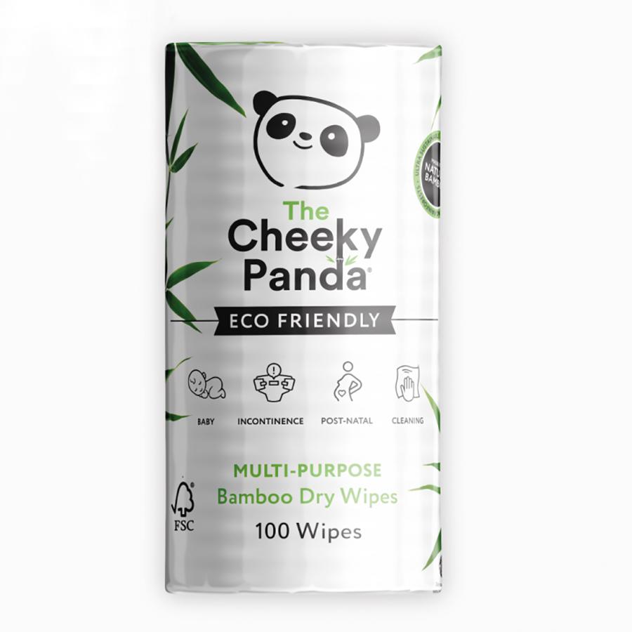 The Cheeky Panda Multi Purpose Dry Bamboo Wipes - 100 Wipes