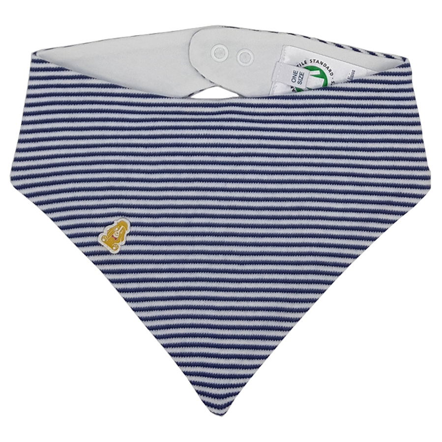 Teddley London Organic Bandana Bib - Navy Blue Stripes