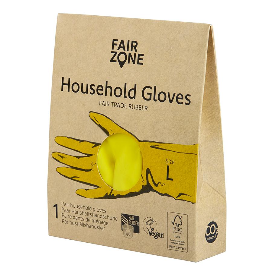 Fair Zone Yellow Rubber Gloves
