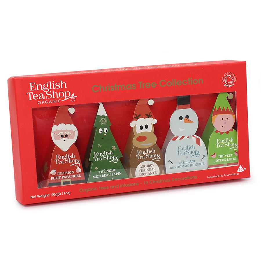 English Tea Shop Christmas Character Pyramid Tea Bag Decorations