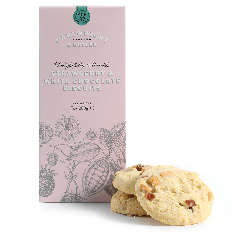 Cartwright & Butler Strawberry & White Chocolate Biscuits - 200g