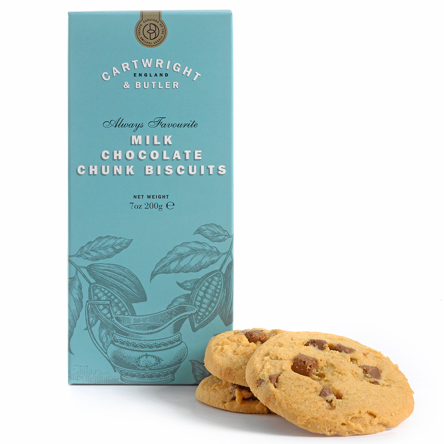 Cartwright & Butler Milk Chocolate Chunk Biscuits - 200g