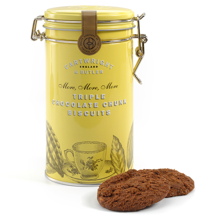 Cartwright & Butler Triple Choc Chunk Biscuits in Tin - 200g