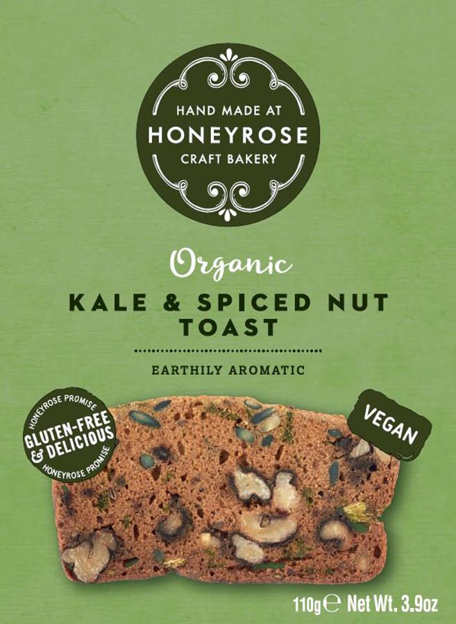 Honeyrose Kale & Spiced Nut Toast - 110g