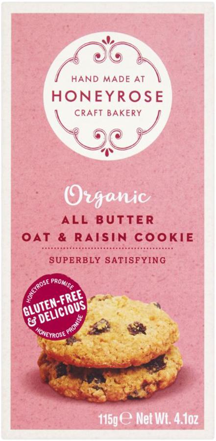 Honeyrose All Butter Oat & Raisin Cookies - 115g