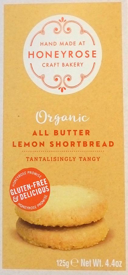 Honeyrose All Butter Lemon Shortbread - 125g