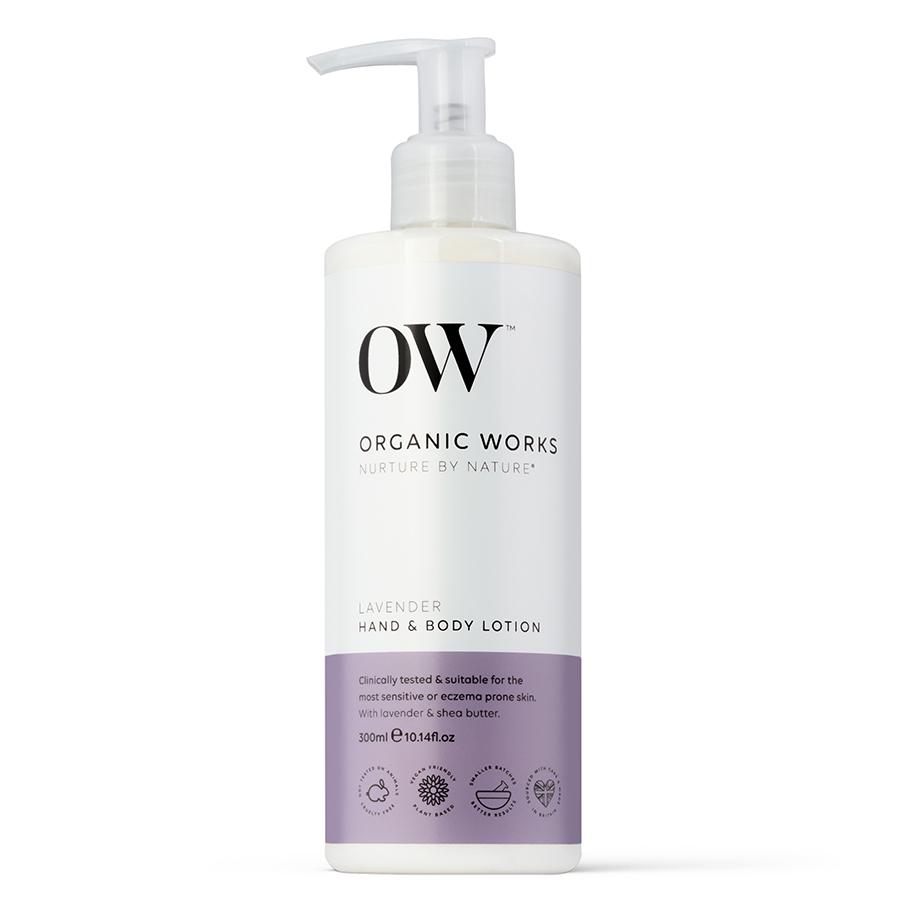 Organic Works Lavender Hand & Body Lotion - 300ml
