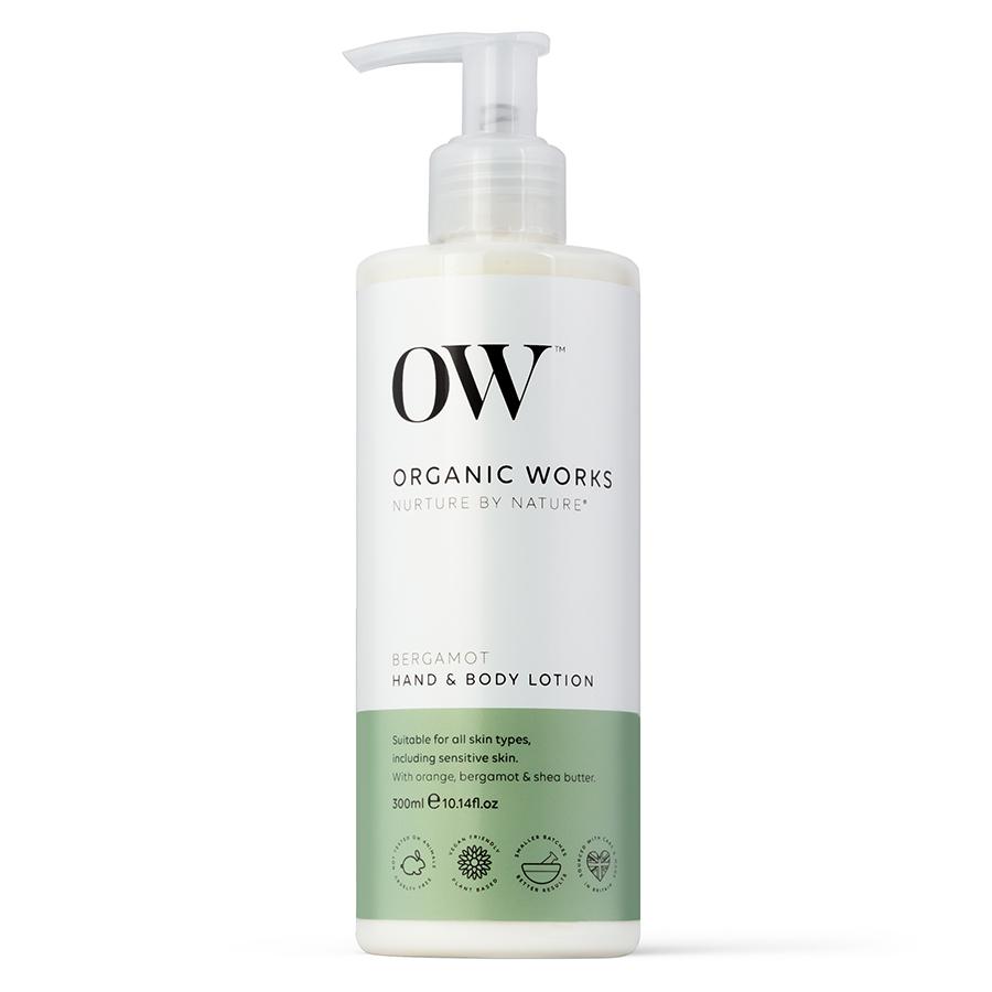 Organic Works Bergamot Hand & Body Lotion - 300ml