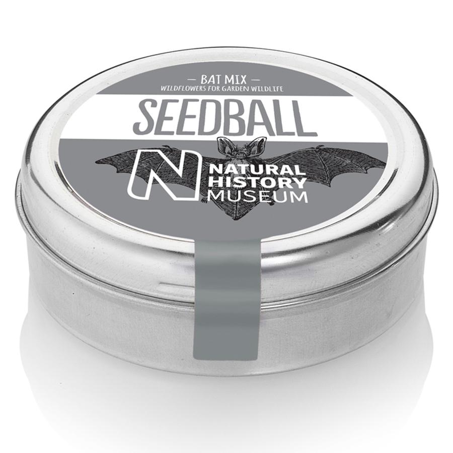 Natural History Museum Bat Mix Seedball Tin