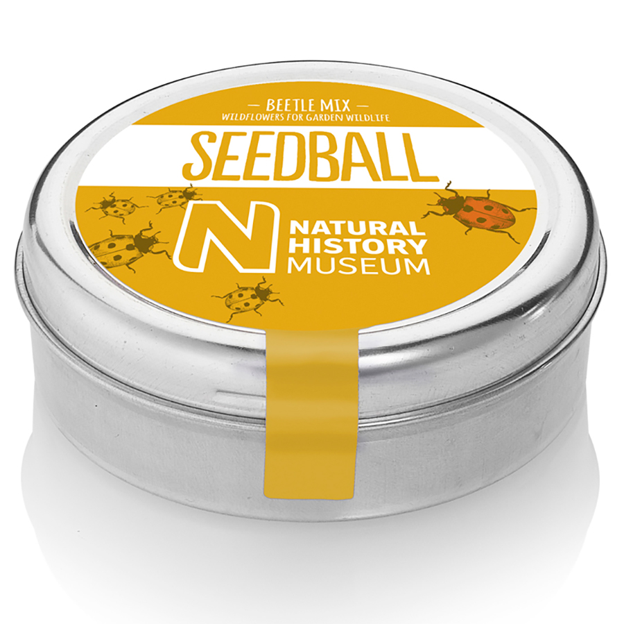 Natural History Museum Beetle Mix Seedball Tin