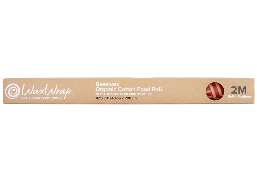 WaxWrap Reusable Organic Cotton Food Wrap Roll - Large