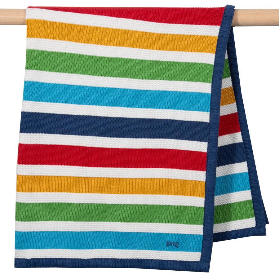 Kite Bright Stripe Knit Blanket