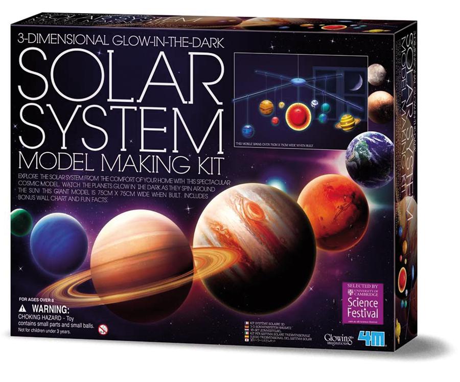 3D Glow in the Dark Solar System Mobile Making Kit