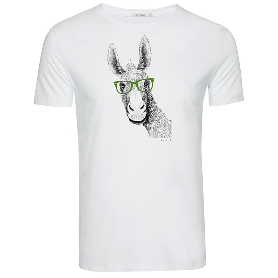 Green Bomb Donkey T-Shirt - White