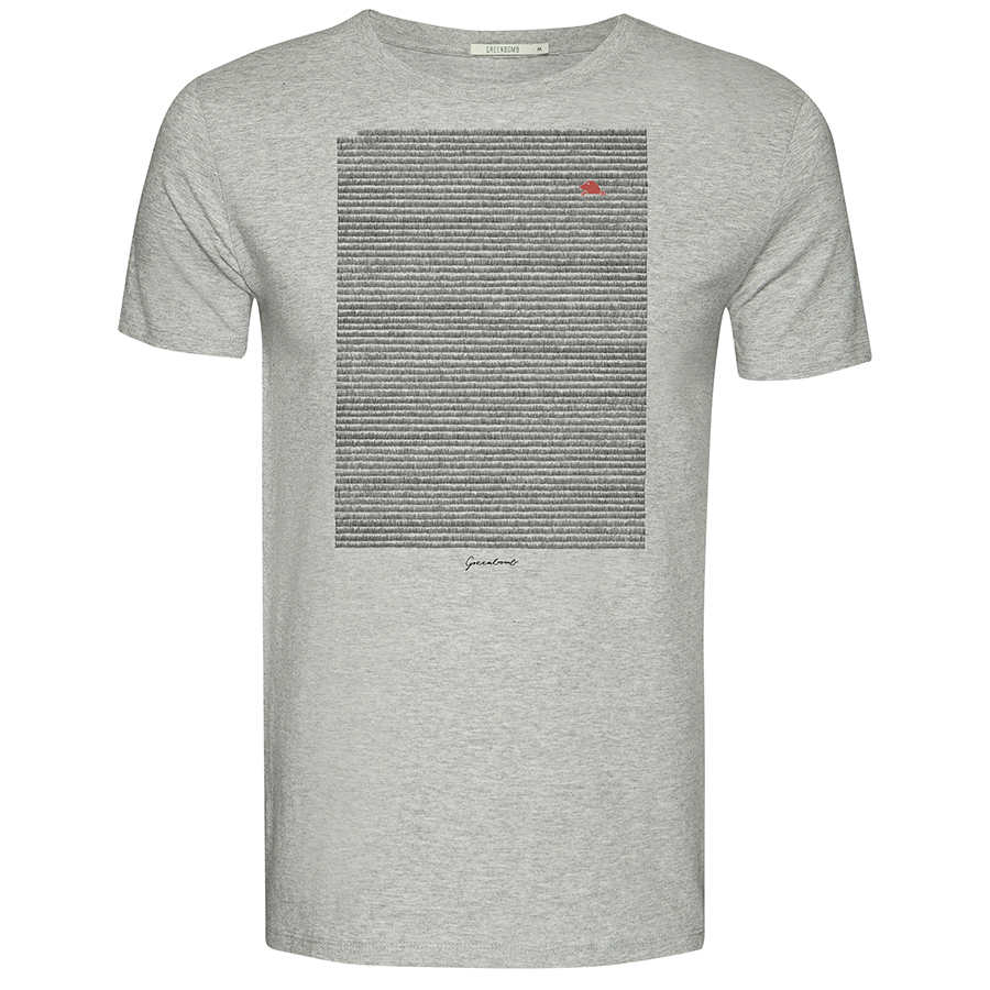 Green Bomb Mole Meadow T-Shirt - Heather Grey