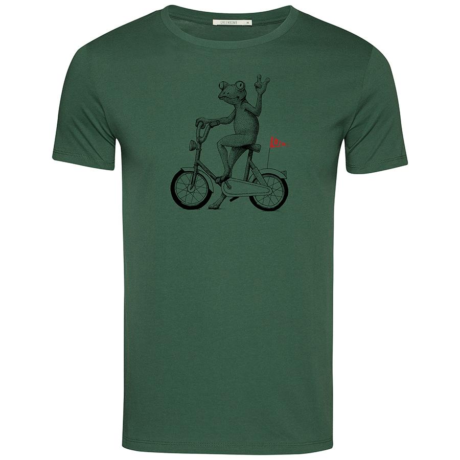 Green Bomb Bike Frog T-Shirt - Bottle Green