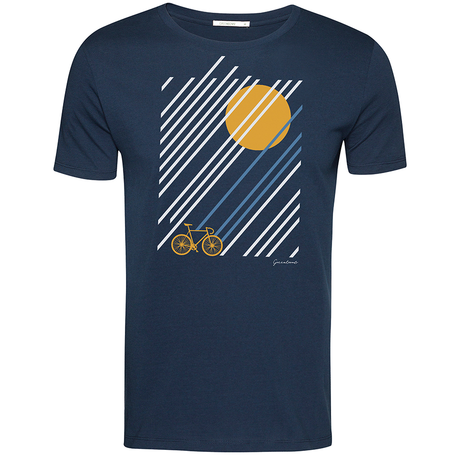 Green Bomb Bike Sunrise T-Shirt - Navy