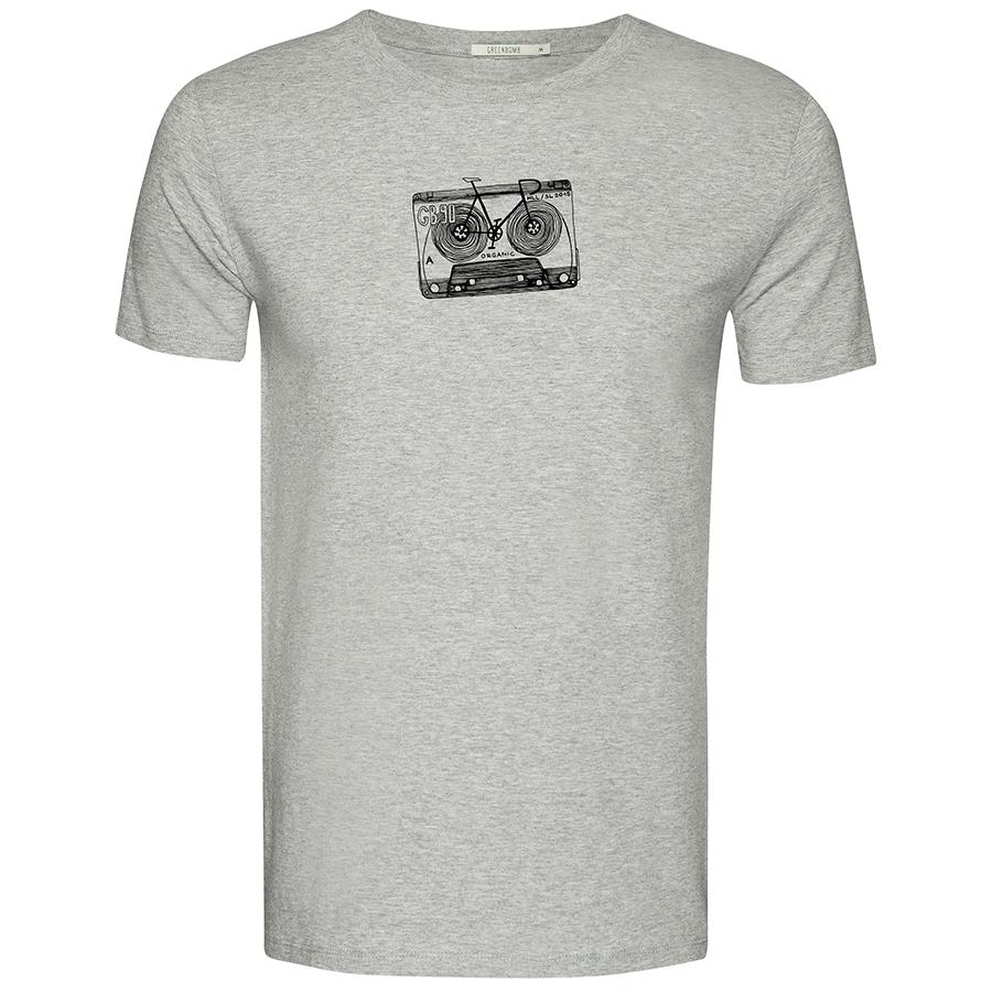Green Bomb Lifestyle Bike Tape T-Shirt - Heather Grey