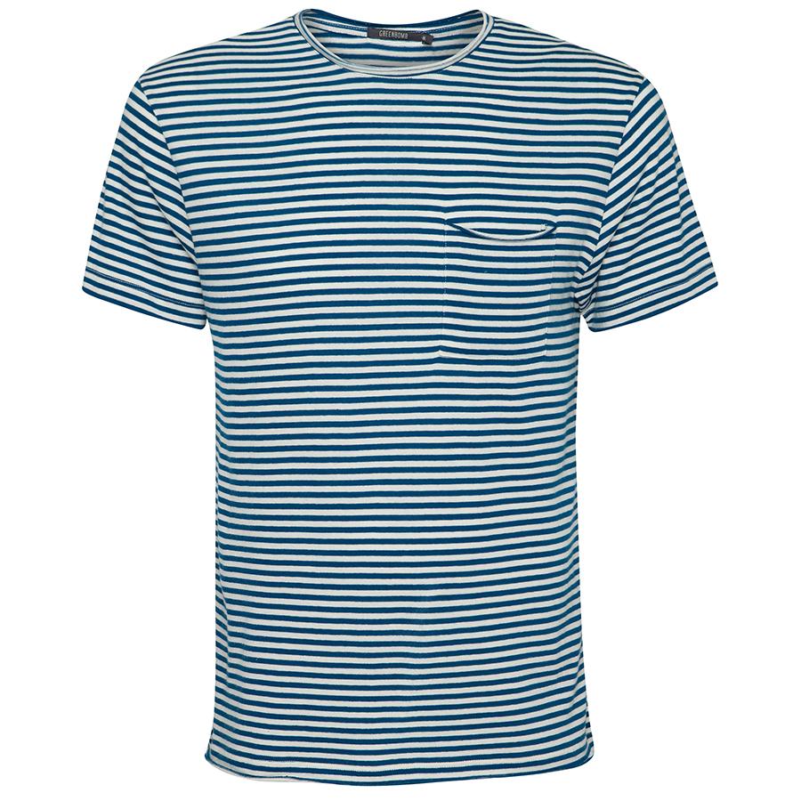 Green Bomb Sailor Blue Stripe T-Shirt