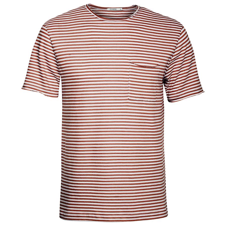 Green Bomb Brown Stripe T-Shirt