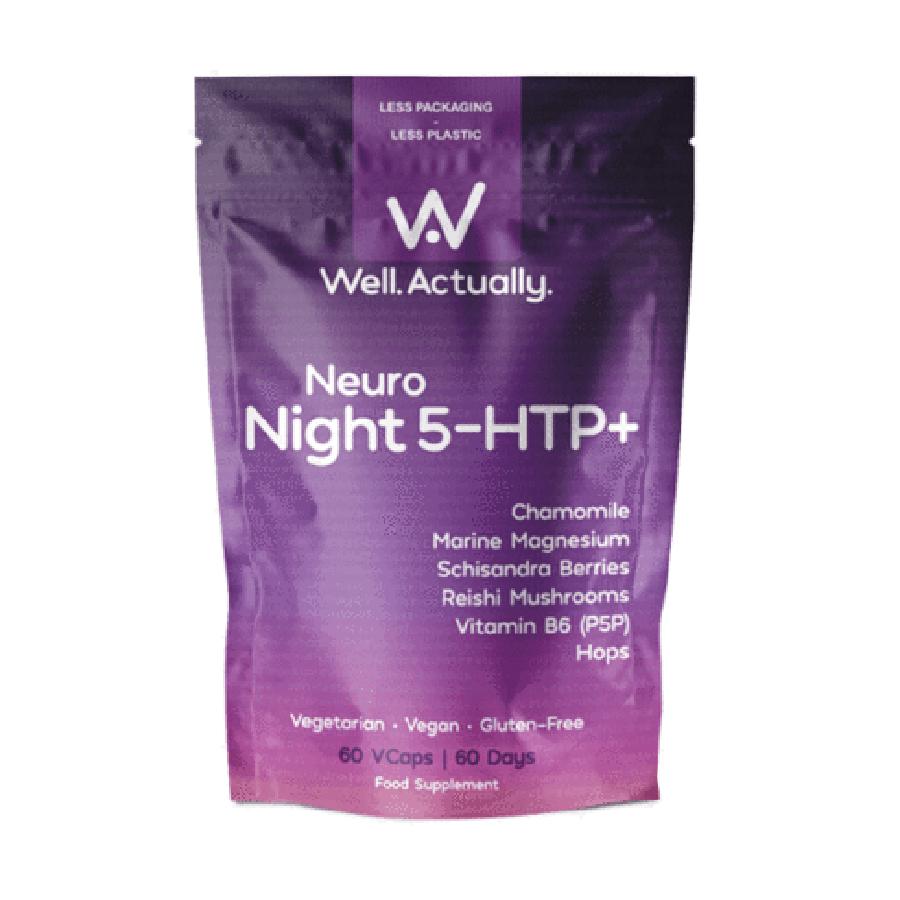Well Actually Neuro Night 5-HTP+ - 60 Capsules