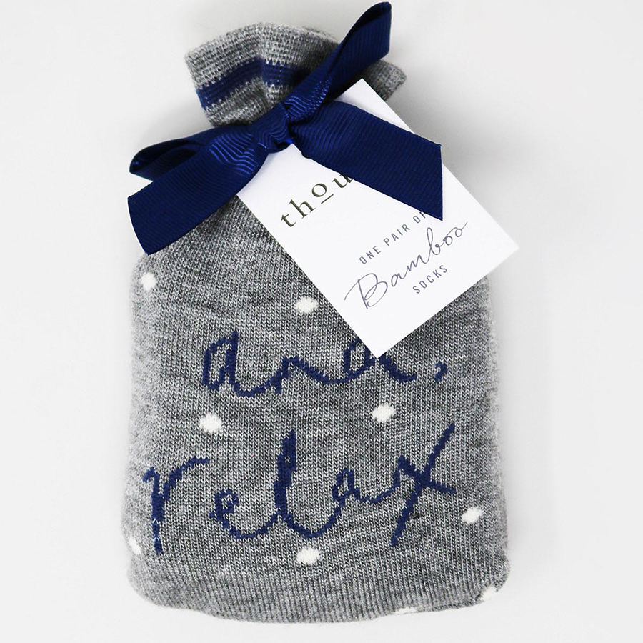 Thought And Relax Socks in a Bag - 1 Pair