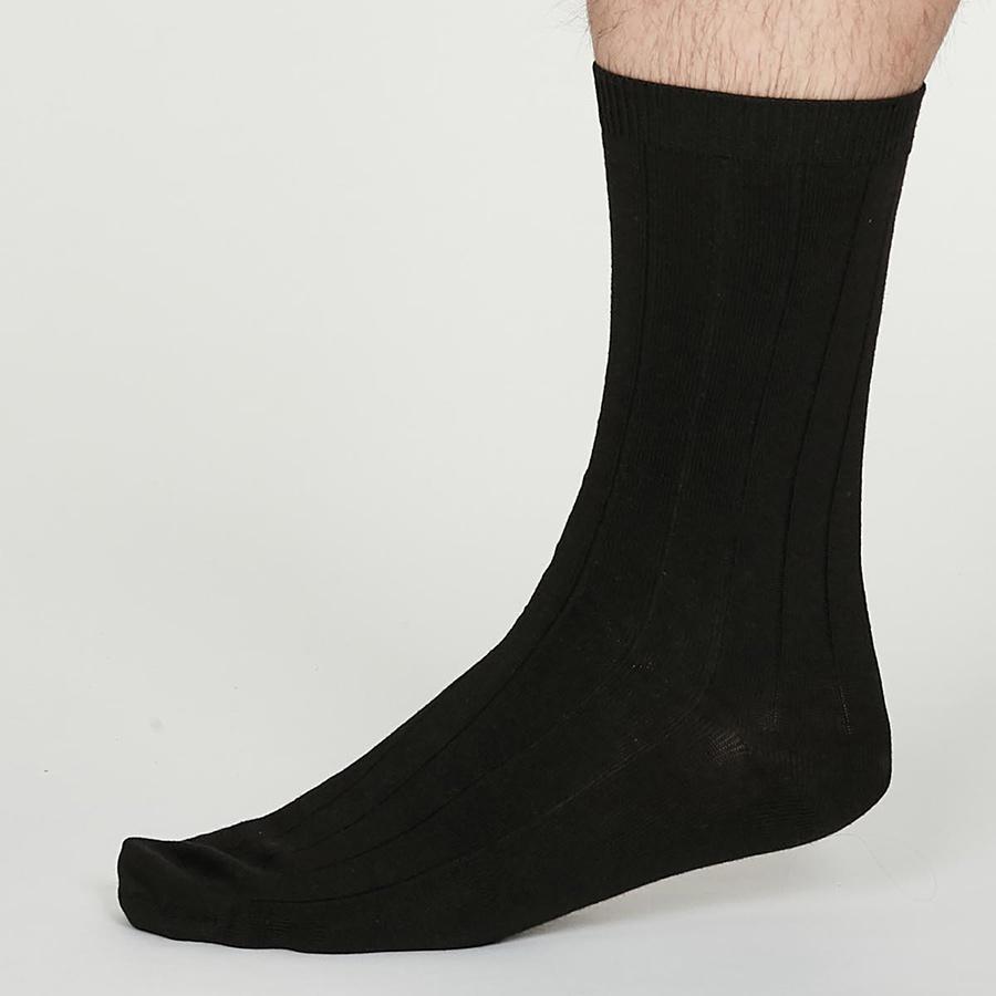 Thought Black Hemp Hero Socks - UK 7-11