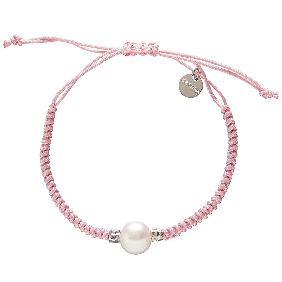Kashka London Adira Fresh Water Shell Friendship Bracelet - Pink