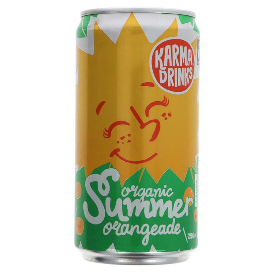 Karma Drinks Organic Summer Orangeade Can - 250ml