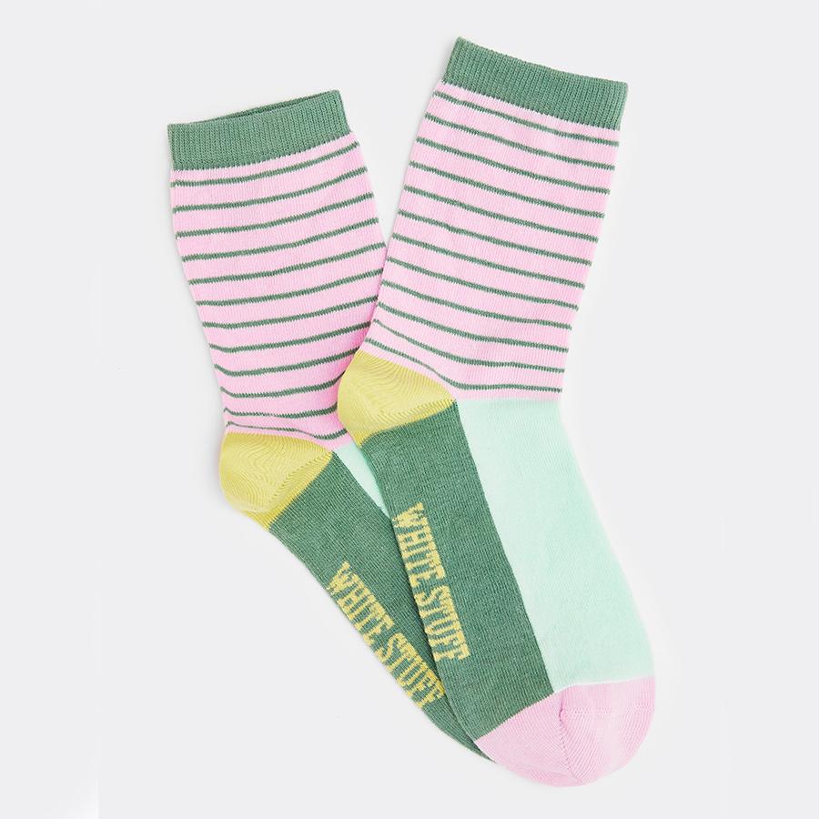 White Stuff Ettie Stripe Colour Block Organic Socks