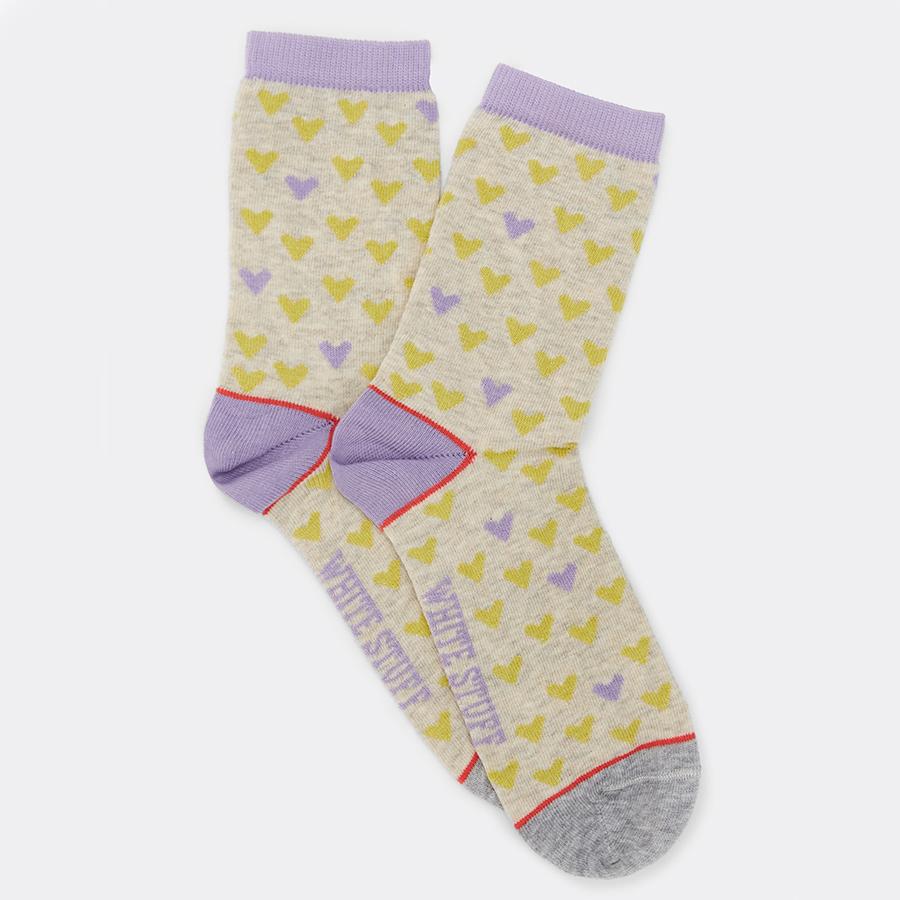 White Stuff Amara Heart Organic Socks