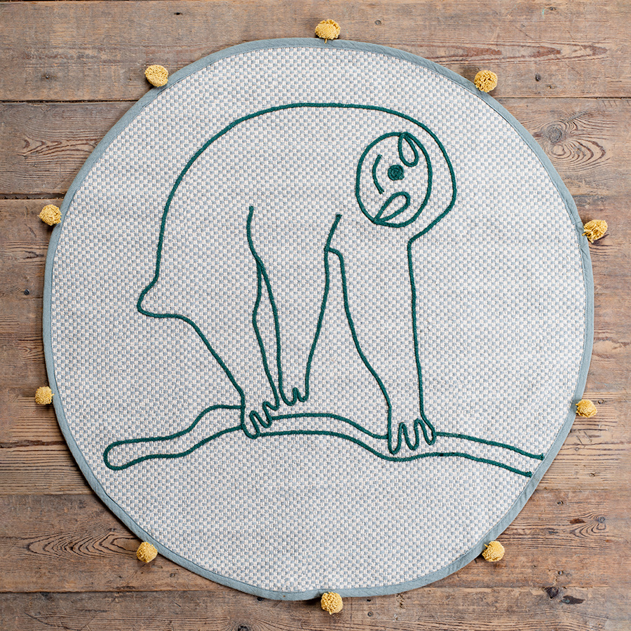 Ian Snow Grey Sloth Recycled Cotton Rug