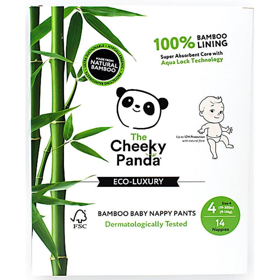 The Cheeky Panda Bamboo Baby Nappies - Size 4 - Pack of 14
