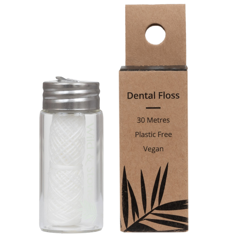 Wild & Stone Refillable Corn Starch Dental Floss - Mint
