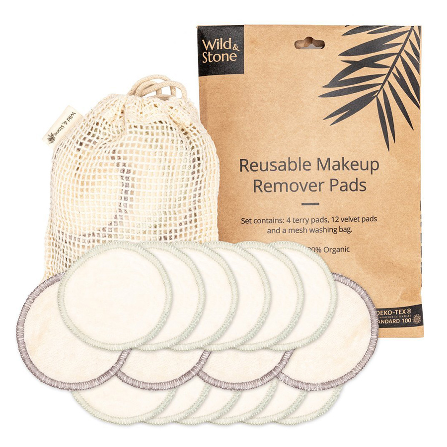 Wild & Stone Reusable Makeup Remover Pads - Pack of 16
